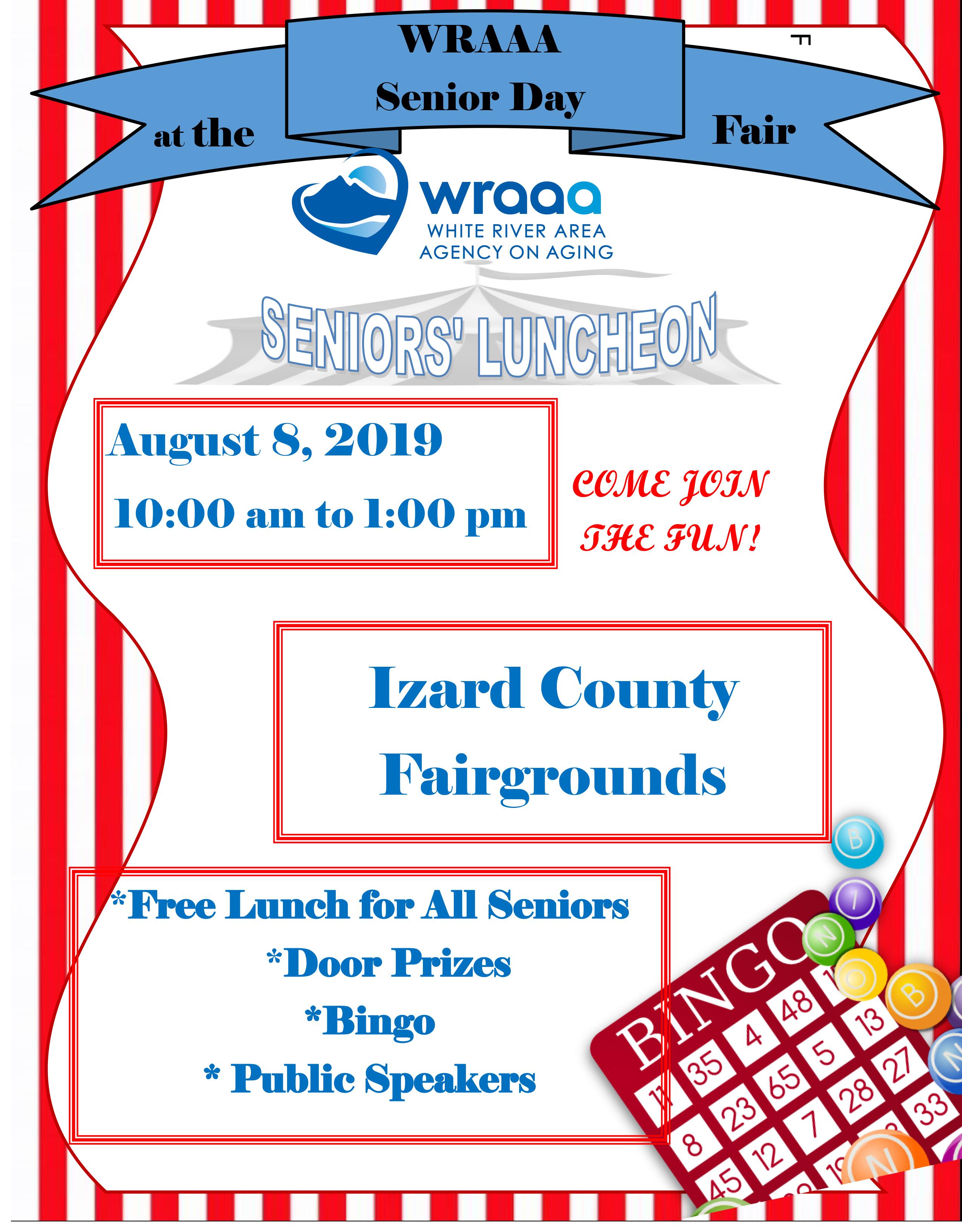 Izard County Senior Day at the fair 2019