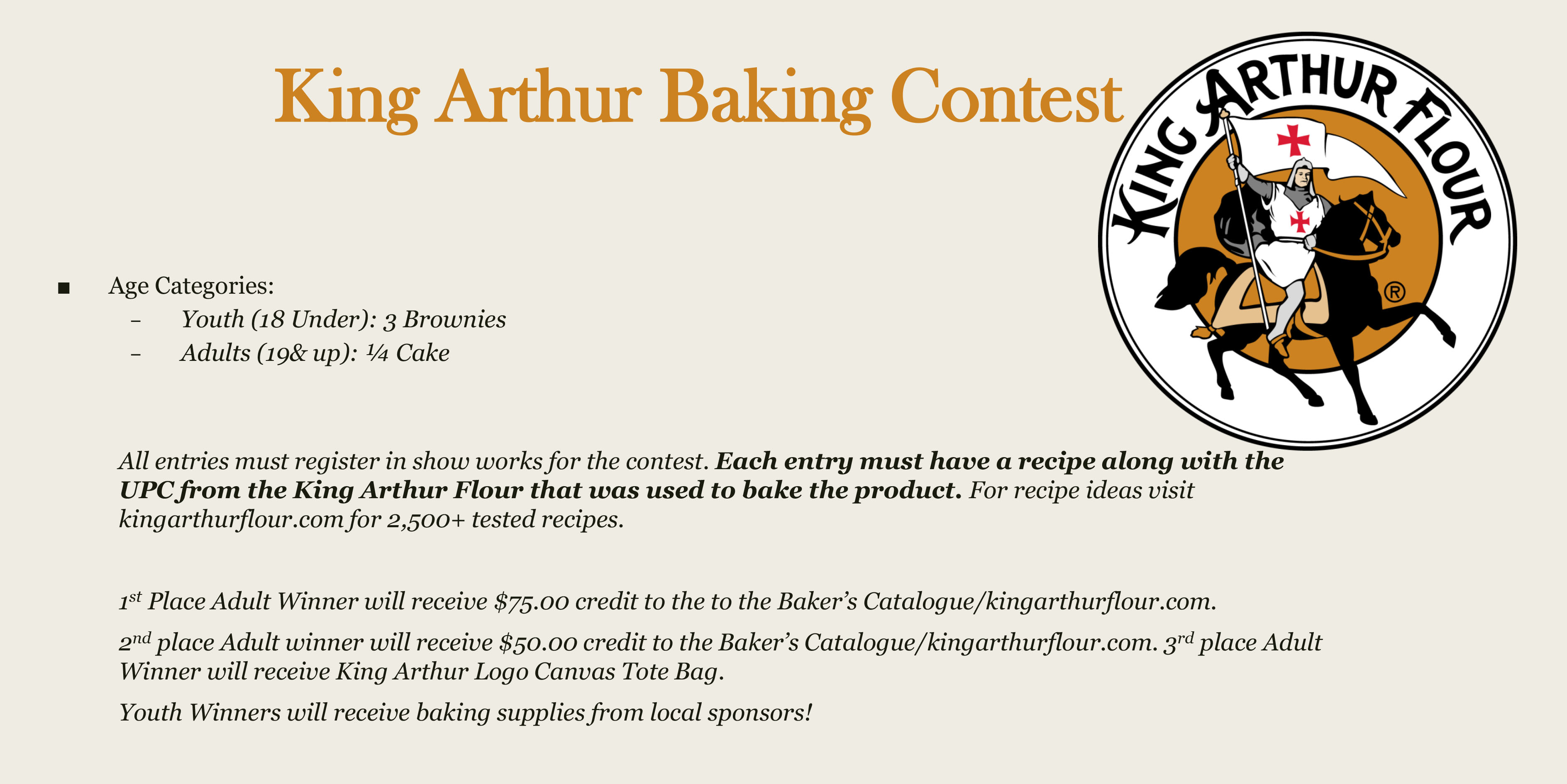 King Arthur Baking Contest