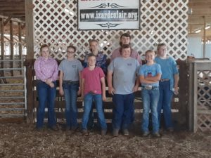 2021 Best of the Best showmanship Exhibitors and their junior helpers